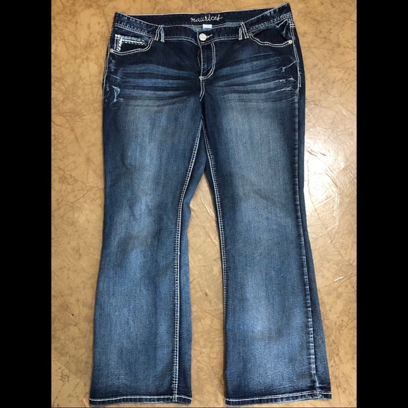 160152a5a19 MAURICES Sexy Plus Size Bootcut Jeans Size 20. M_5b9498d6619745367f530a6f